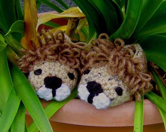 Baby Boy Lion Booties - INSTANT DOWNLOAD Crochet Pattern