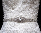 Bridal Dress Gown Beaded Jeweled Crystal Belt Sash