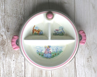 Childs Divided Warming Dish Hankscraft Little Bo Peep