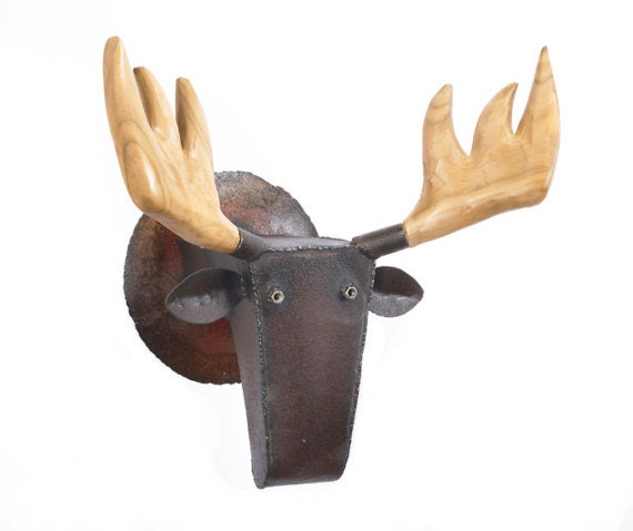 Moose in the Woods Large Wall Art Sculpture