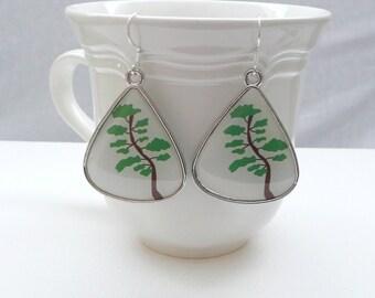 nd-Large Tree Teardrop Dangle Earrings