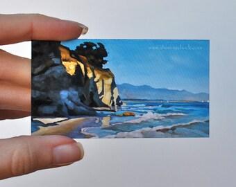 Original Art Magnets - Set of 2 - Cliffs and Crosswalks