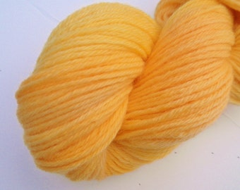 Hand dyed yarn,worsted weight,220 yds,Peruvian Highland Wool,Sunshine