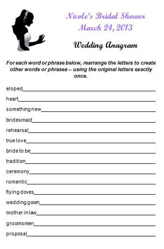 Dating anagrams