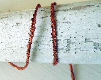 Metallic ribbon Copper Metallic String 5 yards gift wrap craft supply