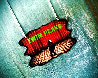 Twin Peaks Movie Necklace David Lynch Red and Black 90s Cult Classic Statement Jewelry NEW