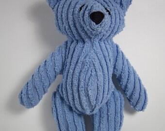 Blue Chenille Teddy Bear