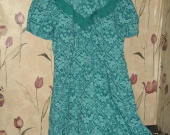 Vintage JaneM Hawaii  cotton  mu mu Tent Dress