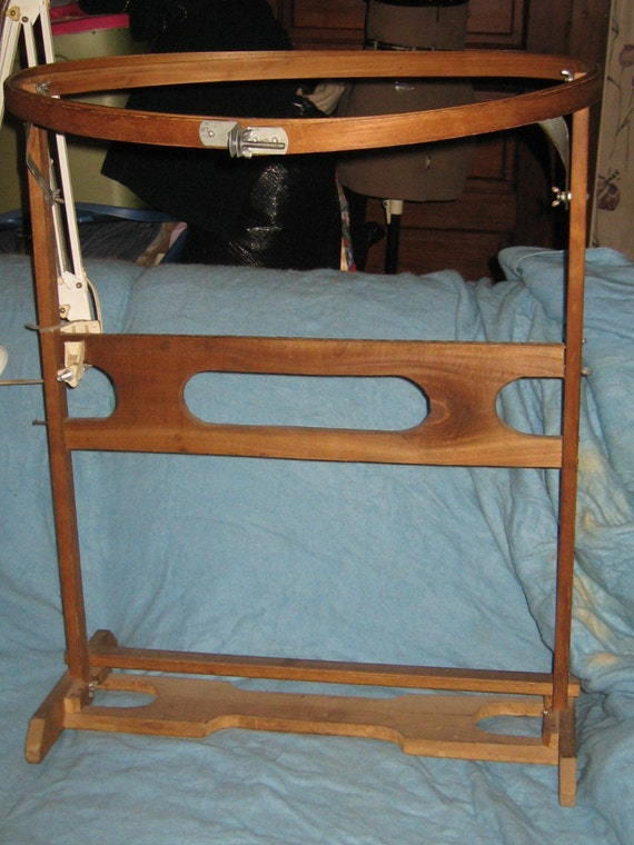 Vintage Wood Quilters Quilting Hoop Floor Stand Quilting
