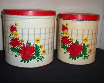 vintage kitchen canister set from the fifties