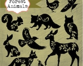 Instant Download - Forest Animals: Digital Clipart Set