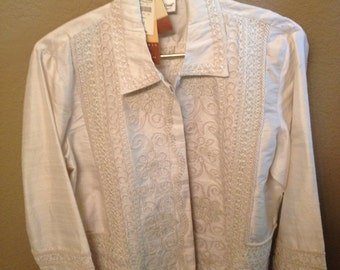 """Cold Water Creek """"Whimsy embroidered jacket"""""""