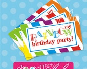 INSTANT DOWNLOAD DIY Party Favors Rainbow Birthday Printable Digital Favor Tags - from Doodlelulu by 2 june bugs