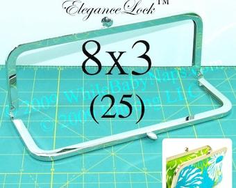 30% OFF 25 nickel-free 8x3 purse frame with EleganceLock(TM) closure