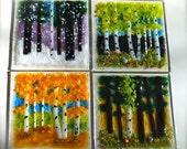 Fused Glass Tile Backsplash Kitchen Bath Gifts Home Decor Coaster