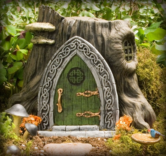 Celtic fairy door for Irish fairy door ideas