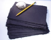 10 sheets of 6 x 8 inch Jet black handmade abaca paper