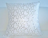 "White Gold Sequin Cotton/Linen Pillow Cover 18x18"""