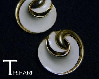 Trifari.  1960's, very pretty ear clips