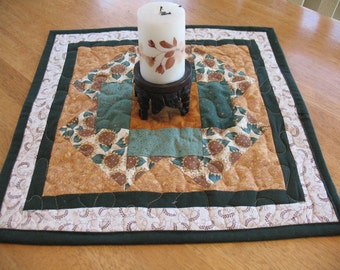 Quilted Sunflower Table Topper or Candle Mat