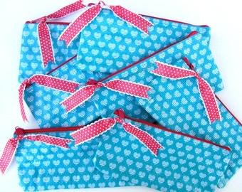 Teal Heart Zippered pouch