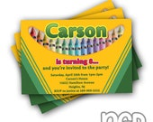Crayola Crayon Birthday Invitations Digital Copy