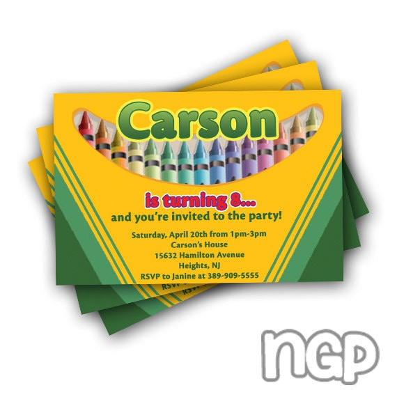 HD wallpapers crayola party invitations