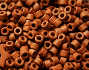 Mykonos Greek Ceramic Mini Tube Beads --MORE for LESS--30 Mocha Coffee 6X4mm Mykonos Beads Spring Sewing scrapbooking supplies Diy