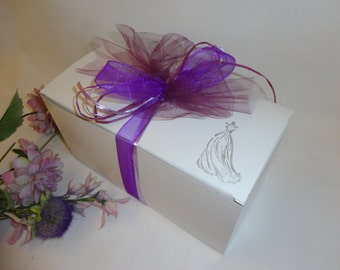 Glassware Gift Boxes  - Personalized to match your Wedding Colors