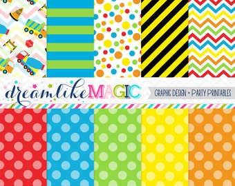 Lil Construction Zone- Digital Paper Pack for Personal or Commercial Use