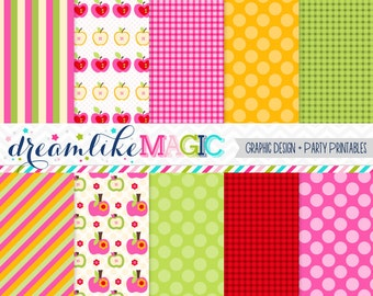 Apple of my Eye Digital Paper Pack for Personal or Commercial Use