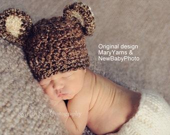 Bear Newborn Photography Hat, all babies  Photo prop HAT, Bear Panda Baby Photo Shoot HAT, GIFT Babyshower Bear Hat