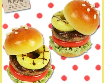 Deco Food Mould / Mold. One mould / mold for mini hamburgers with all the toppings. 6 shapes in one mold