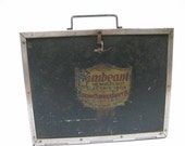 Antique Electric Clothes Iron Storage Box By Sunbeam