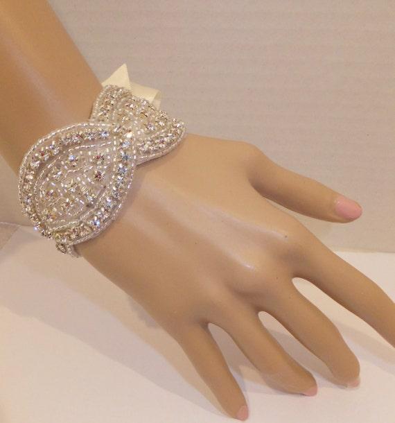 Bridal Bracelet, TORI, Rhinestone Bridal Bracelet, Bridesmaid Bracelet, Bridal Cuff, Rhinestone Bracelet