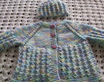 Lightweight Baby Girl Sweater Set for Spring or Summer!