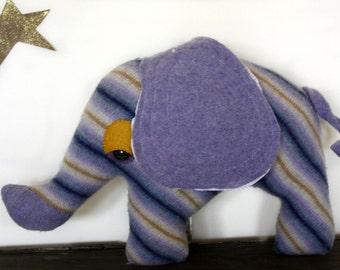 handmade elephant stuffed animal, elephant plush, elephant pillow