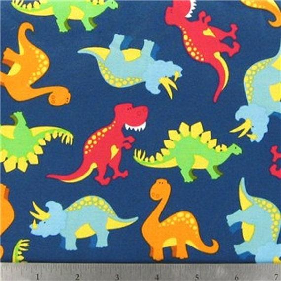 Dinosaurs in Blue - 1 yard