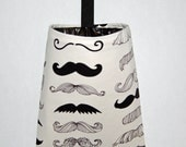 Car Trash Litter Bag Moustache