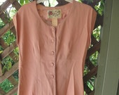 SALE 1/2 price Vintage Women's Size 10-12 Pink Blouse by Dorothy Schoelen