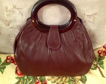 Vintage Andre Handbag Dark Color Preppy Chic Purse Pocketbook