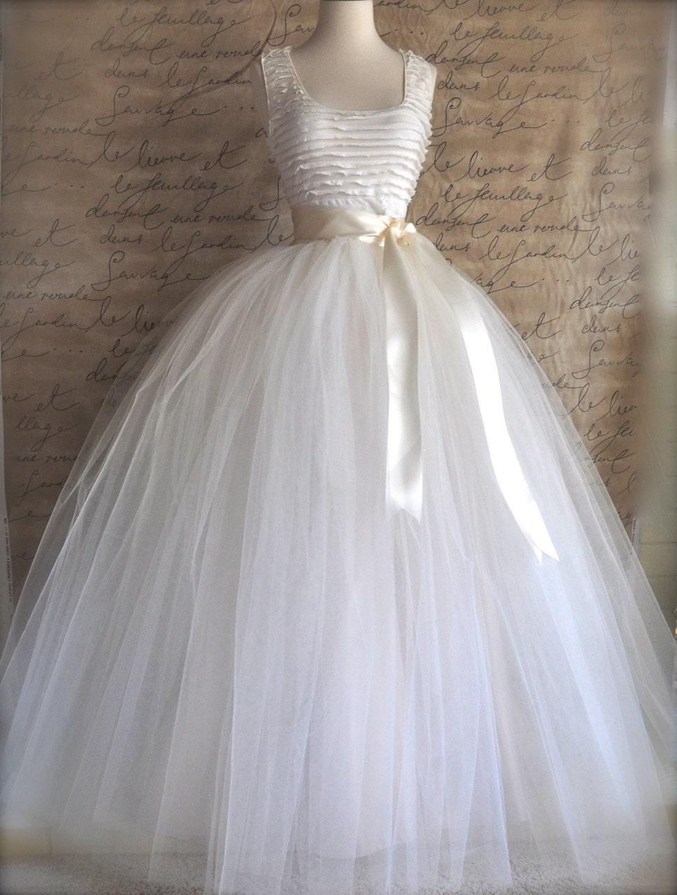 Full length tulle skirt maxi long tutu skirt classic for How to make a long tulle skirt for wedding dress