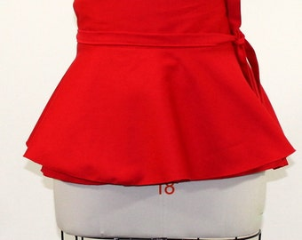 Red Twill Peplum Belt size 2 - 14 Peplum Belt Adjustable