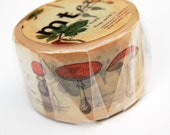 MT Washi tape of Encyclopedia Plant flower masking tape, 1 roll washi tape 30mm x 10M