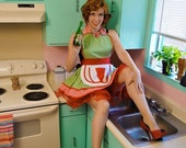 Sunshine Donuts Counter Girl Diner Waitress Apron Made to Order