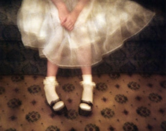 lace dress, mary janes, fine art photo, female, doll, the biltmore hotel, holga, watercolor paper 4x5, 8x10