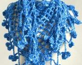 triangle crochet scarf - women scarf - warm cozy scarf