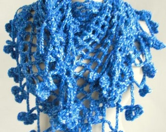 triangle crochet scarf - women scarf - warm cozy scarf