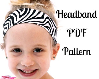 Headband Sewing Pattern - INSTANT DOWNLOAD
