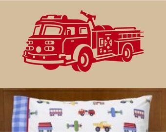 Fire Truck Wall Decal
